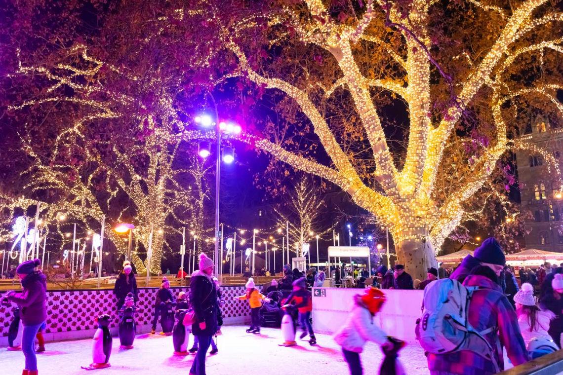 Korčuľovanie vo Viedni je romantické najmä po zotmení
